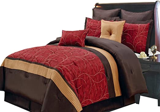 Amazon.com: 12PC California King Size Atlantis Red Bed in a Bag