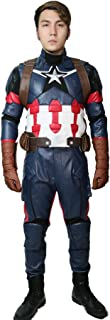 Civil War Cosplay Costume Steven Rogers Battle Outfit 2016,Costume Belt groves,X-Large(178-182cm)