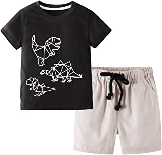 Toddler Boy Clothes Kids Summer Cotton Outfits Shirt...