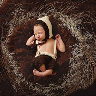 Anmy Ropa De Fotografía para Bebés Fotografía de los niños Ropa de Punto Hecho a Mano de Dibujos Animados Foto del bebé su...