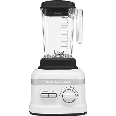 KitchenAid High Performance Series Blender, 9-speed, kitchen countertop blender, Smoothie Blender, Ice Crusher, Stir, Chop, Mix, Process and Puree frozen foods, fruits, drinks, KSB6060FW, Matte White