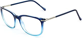 201579 Fashion Metal Temple Horn Rimmed Clear Lens Glasses