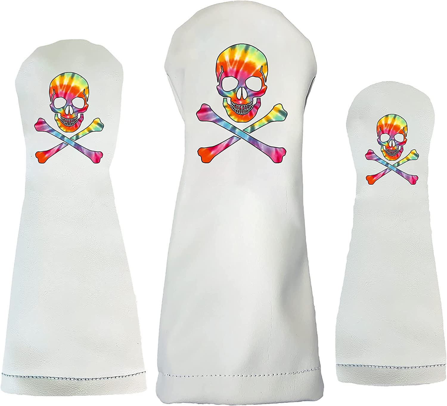 Sunfish Tie Dye Skull and Genuine Crossbones Headcover Leather Sales of SALE items from new works Club Golf
