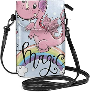 Women Small Cell Phone Purse Crossbody,Cartoon Style Hungry Puppy Wants Bone Maze Game Design With Extra Pathways