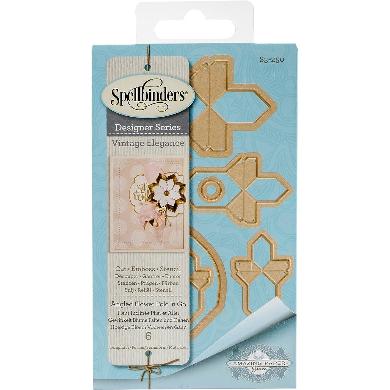 Spellbinders Angeled Flower Fold 'N Go Etched/Wafer Thin Dies