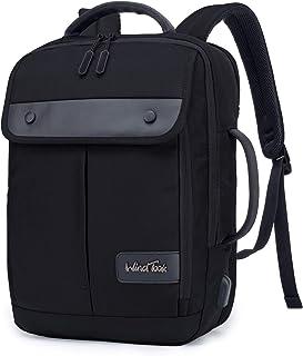 Mochila Ordenador portatil 15.6 Pulgadas Mochila de Hombre Trabajo con Puerto de Carga USB Mochila de Negocios Adecuado para Viajes Trabajo Escolares Negro