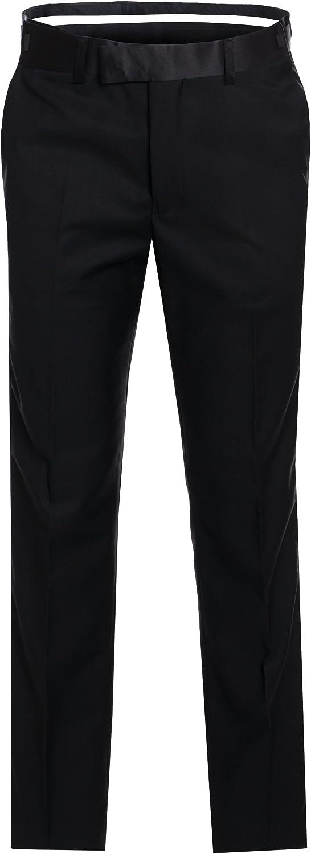 Men's Premium Slim Fit Italian Design Black Tail Tuxedo