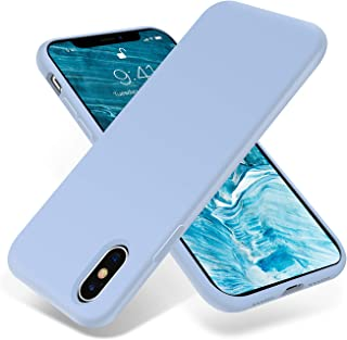 OTOFLY for iPhone X Case, [Silky and Soft Touch Series] Premium Soft Silicone Rubber Full-Body Protective Bumper Case Compatible with Apple iPhone X(ONLY) - Light Blue