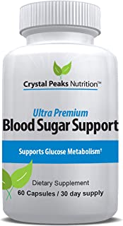 Ultra Premium Blood Sugar Support Supplement   Natural Glucose Control   20 Powerful Ingredients for Healthy Insulin Uptak...