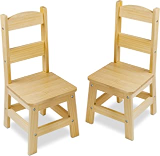 Melissa & Doug Solid Wood Chairs, Chairs for Kids, Light-Finish Furniture for a Playroom (Durable Construction, Set of 2, Great Gift for Girls and Boys – Best for 3, 4, 5, 6, 7 and 8 Year Olds)