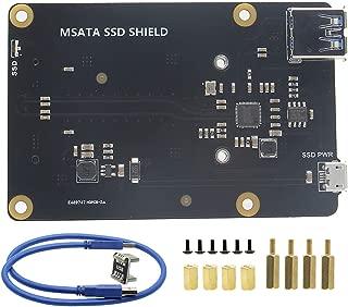 Geekworm Raspberry Pi 3 B+ (B Plus)/3B mSATA SSD Storage Expansion Board, X850 V3.1 USB3.0 Mobile Hard Disk Module for Raspberry Pi 3 Model B+/ 3 Model B/ ROCK64