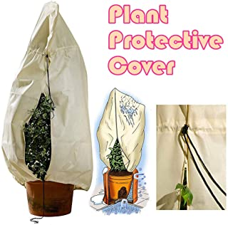 QIKI Plant Frost Protection Bag Shrubs Trees Jacket Drawstring Plant Cover (70.74