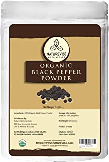 Malabar Black Pepper (Black Tellicherry peppercorn) Ground, 1 pound - 100% Pure & Natural - USDA Organic Certified [ Packaging may vary ]