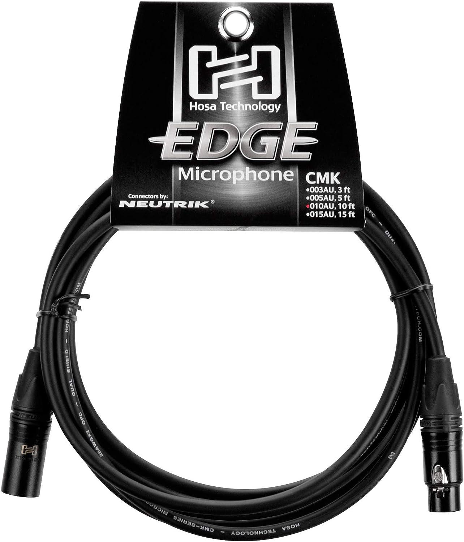 Hosa Edge CMK-050AU Neutrik XLR3F to XLR3M Microphone Cable 50 Feet