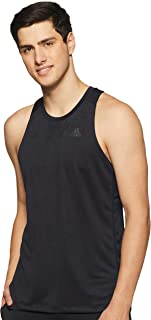 adidas Men's Own The Run Singlet T-Shirt, Black, Large