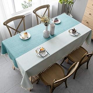 Pahajim Nappe Simple Style Coton pour Table de Salle à Manger Nappes de Cuisine Lavables Avec Glands Décorations de Table ...