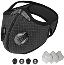 Dust Face Masks Reusable with Activated Carbon Filters Protective Face Masks Sport Outdoor Masks with Exhalation Valves Ac...