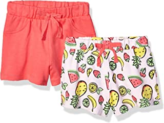 Flapdoodles Girls FGJ05373A Fruit 2pk Casual Shorts - red