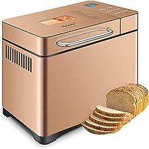 Yabano Machine à pain avec Distributeur de Fruits à Coque, 1kg 19 Programmes Automatiques, 650 W Écran Tactile Haute Sensi...