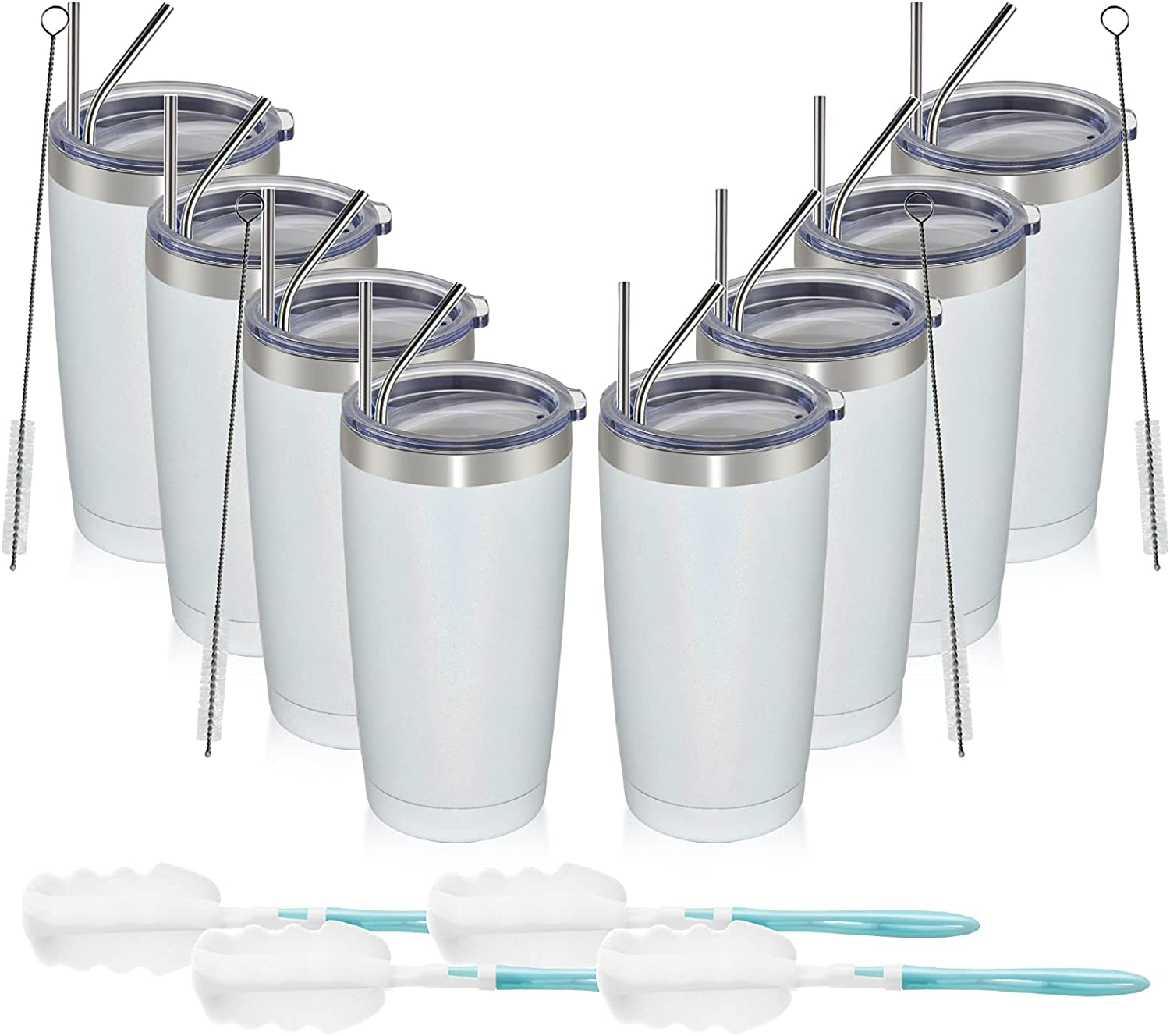 MEWAY 20oz Tumbler 8 Pack Double Vacuum Travel 2021 autumn and winter new Wall Insulated Now on sale Gl