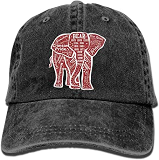 Unique Alabama Red Elephant Cowboy Hat Vintage Chic Denim Baseball Caps Trucker Hats