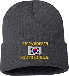 I'M FAMOUS IN SOUTH KOREA Custom Personalized Embroidery Embroidered Beanie