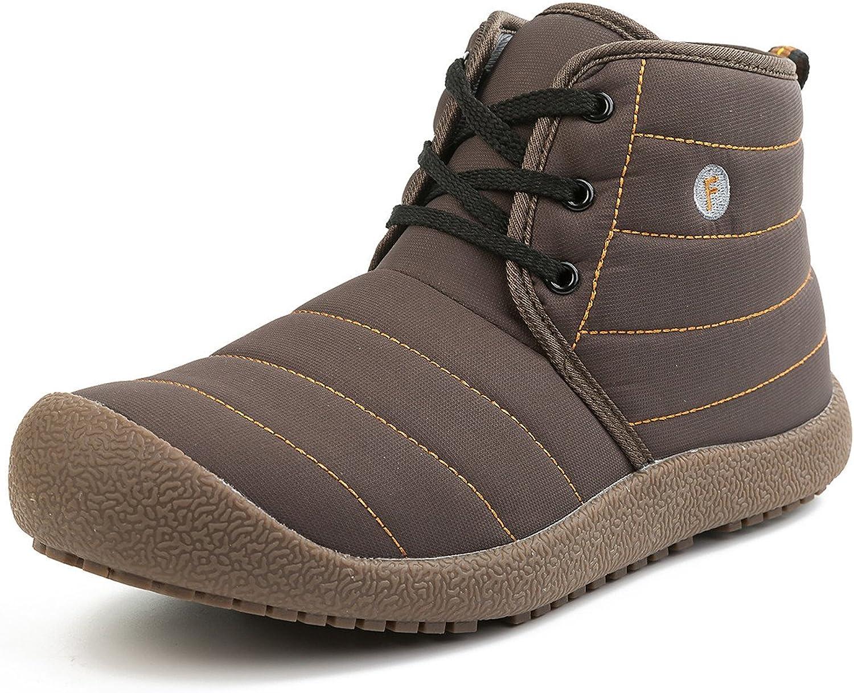 Soouops Mens Casual Ankle Boots Walking shoes Anti-Slip Waterproof Brown 13 M US