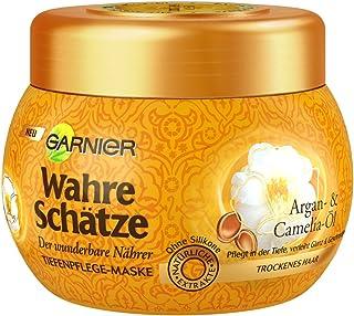Garnier True Treasures Argan & Camelia Oil Deep Care Mask, Haarbehandeling met Arganolie, Haarverzorging voor droog haar, ...