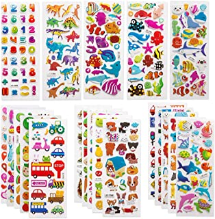 SAPU 40Pcs 3D Stickers for Kids & Toddlers 600+ Puffy Stickers Variety Pack for Scrapbooking Bullet Journal Including Anim...