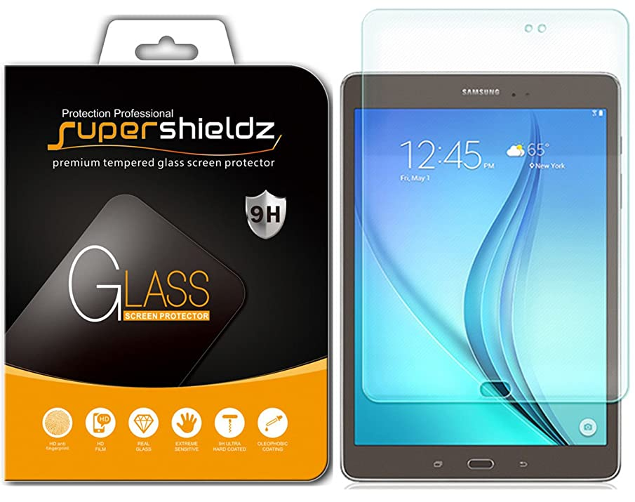 [2-Pack] Supershieldz for Samsung Galaxy Tab A 8.0 (2015) [SM-T350 Model Only] Tempered Glass Screen Protector, Anti-Scratch, Bubble Free, Lifetime Replacement