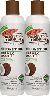 Palmer's Coconut Oil Formula Hair Milk Smoothie | 8.5 Ounces (Pack of 2)