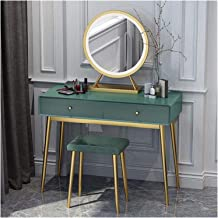 Modern Dressing Table Organiser Set with Adjustable Brightness Mirror,Cushioned Stool,for Bedroom Home Decor Vanity Set Se...