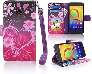for ZTE N818S QLink Wireless Case Wallet Grip Kickstand Pouch Pocket Purse Screen Flip Cover for ZTE Sapphire 3g (Heart)