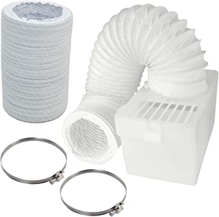 Spares2go Condenser Box & Extra Long Hose Kit With Jubilee Clips For Candy Tumble Dryer (4