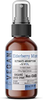 Organic Elderberry Mist-Sambucus Nigra (Extra Strength) Liquid Extract for Kids & Adults - Immune Boost - High Flavonoid L...