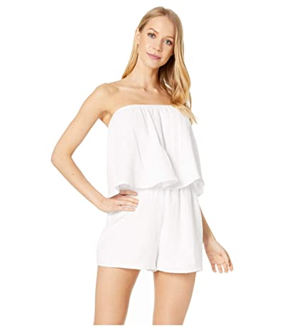 Show Me Your Mumu Thelma Romper (White Crinkle Gauze) Women