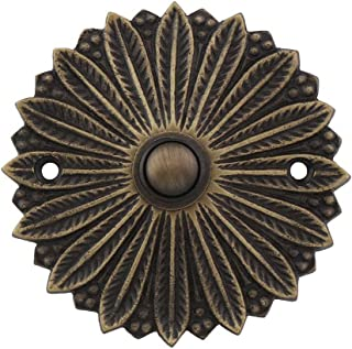 House of Antique Hardware R-010MG-311-AB Hollywood Regency Solid-Brass Doorbell Button in Antique Brass