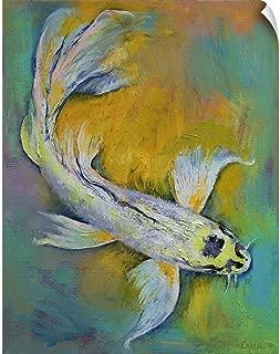 CANVAS ON DEMAND Kujaku Butterfly Koi Wall Peel Art Print, 24