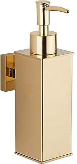 bgl Distributeur de savon mural en acier inoxydable 304 pour décoration d'intérieur (doré)