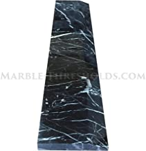 Single Hollywood Door Threshold – Nero Marquina Marble – 36 x 4 inches