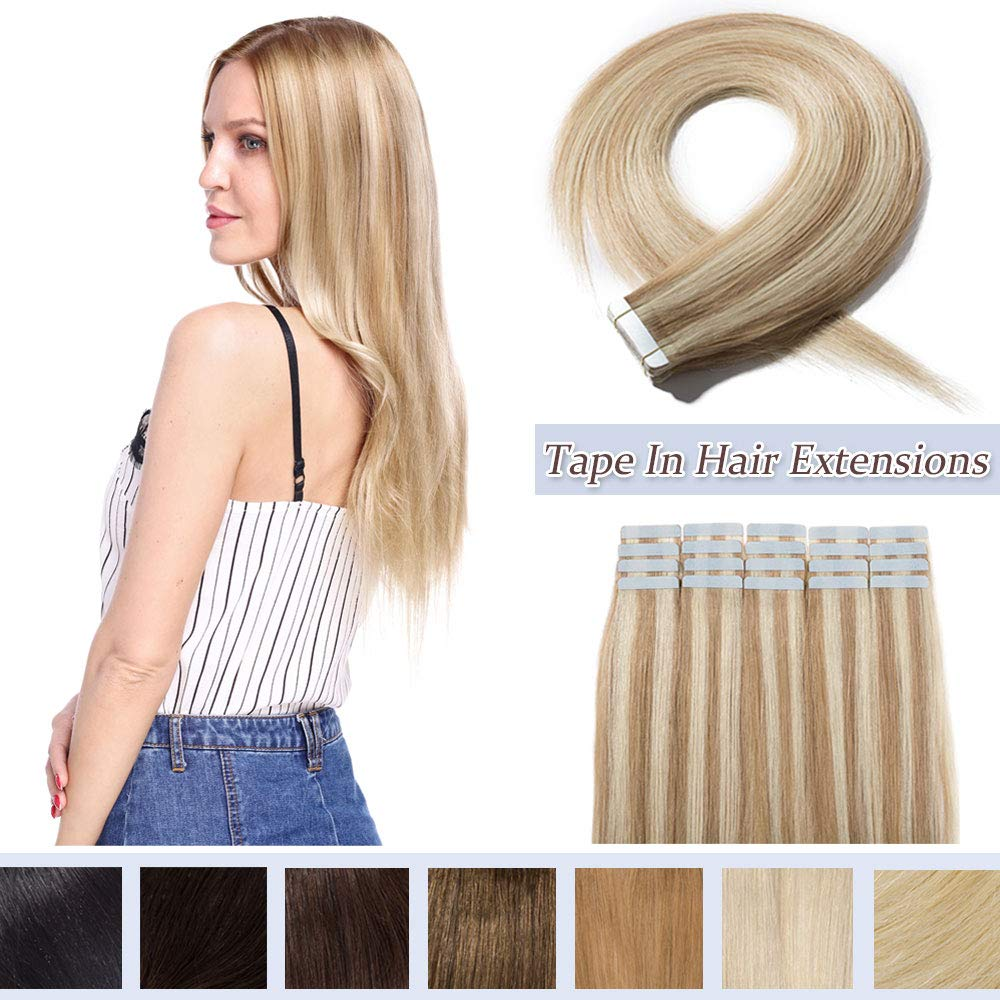 100% Rooted Tape In store Human Hair Dedication PCS Invisible Seaml 40 Extensions