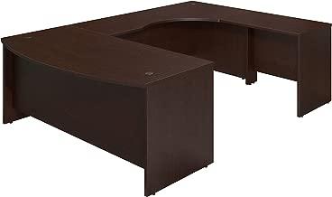 Bush Business Furniture Series C Elite 72W x 36D Right Hand Bowfront U Station Desk Shell in Mocha Cherry