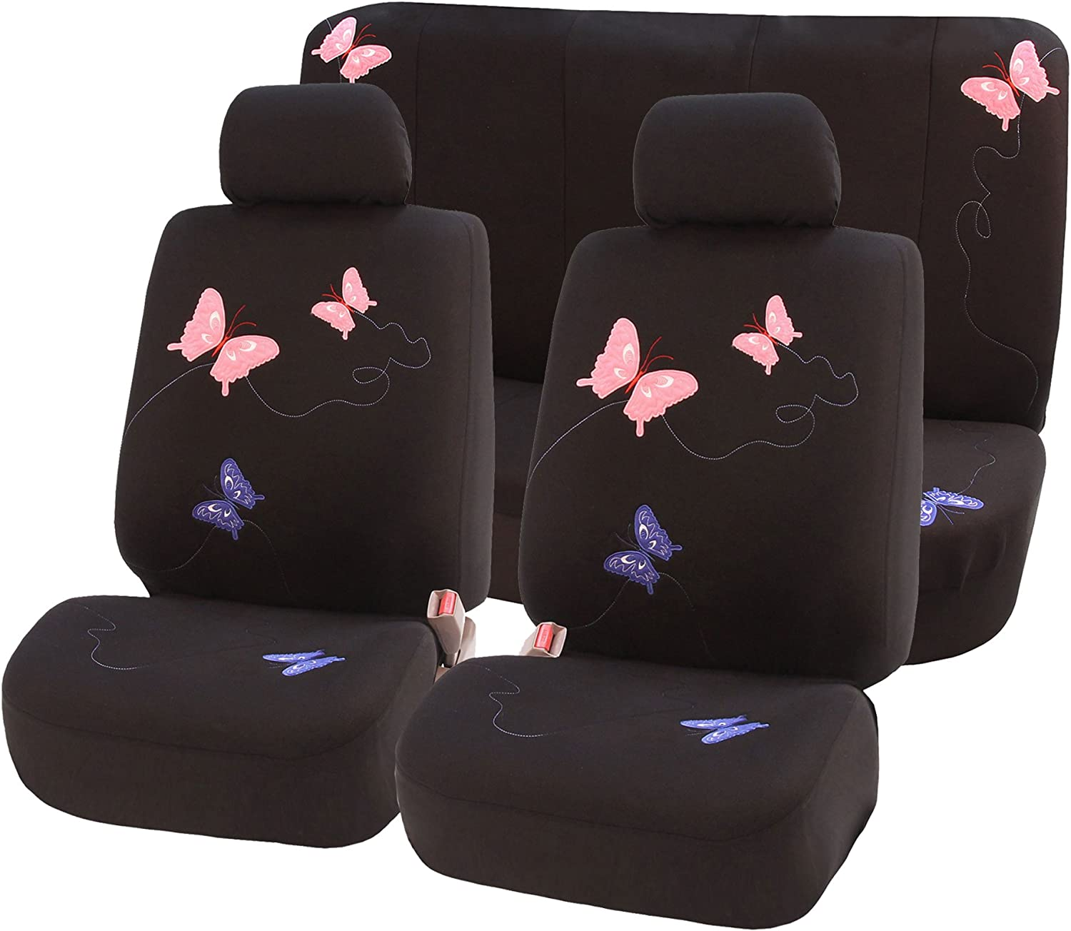 New Orleans Mall FH Topics on TV Group FB055112 Universal Full Set Car with Black Covers Seat