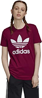 adidas Originals Women's Trefoil Tee, Power Berry/White, XS