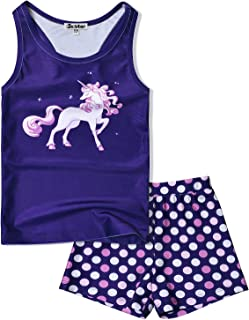 Jxstar Girls 2-Piece Swimsuits Bathing Suits Unicorn Mermaid Swimwear Tankini