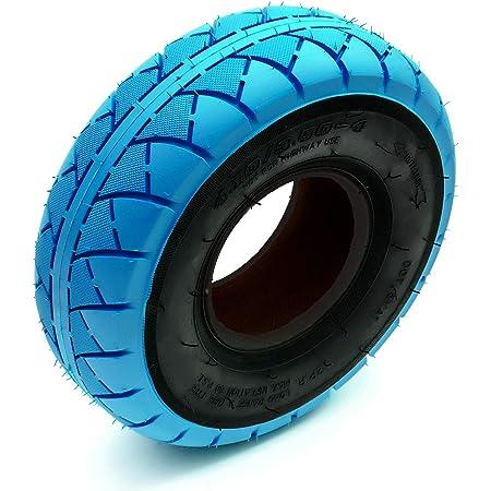 """environ 25.40 cm 10 IN Pneu /& tube intérieur 4.10//3.50-4 Mini Vélo BMX vélo bleu et noir 4/"""" Rim"""