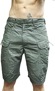 Coolred Men's Multi Pockets Rugged Wear Skinny Combat Work Shorts Pants