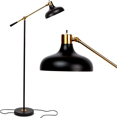 Co Z Industrial Black Floor Lamp Farmhouse 65 Inches Adjustable Rustic Floor Task Lamp In Aged Bronze Finish Standing Lamp With Metal Shade For Living Room Reading Bedroom Office Floor Lamps Amazon
