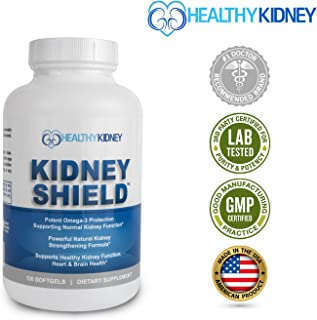 Best Kidney Supplement to Protect and Support Kidney Function, Creatinine, Kidney Cleanse and Support Kidney Health for Quick Renal Detox Kidney Flush Kidney Shield Omega3