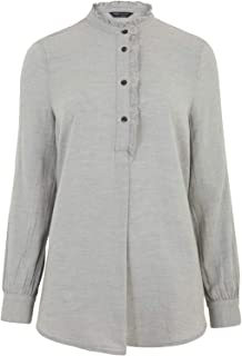 Marks & Spencer Women's Cotton High Neck Frill Detail Tunic
